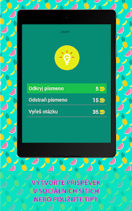 screenshot of ? 250+ GUESS FRUITS AND VEGETABLES IN CZECH version 3.4.8z