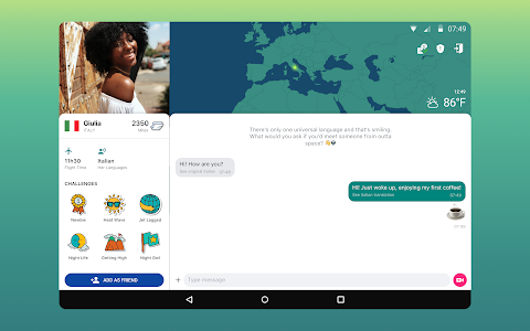 screenshot of Ablo: Talk to new people & explore the world version 1.6.0