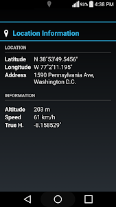 screenshot of Accurate Compass version 2.0.8