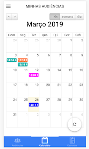 screenshot of Agenda de Audiências version 0.0.2