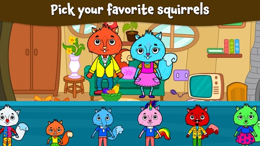 screenshot of Animal Town - My Squirrel Home for Kids & Toddlers version 2.4