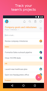 screenshot of Asana: organize team projects version 6.8.3