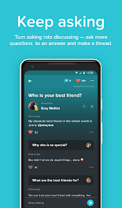 screenshot of ASKfm - Ask Me Anonymous Questions version 4.26.1