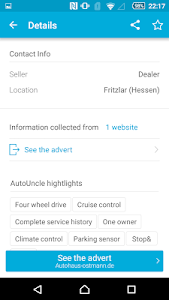 screenshot of AutoUncle: Used car search, compare prices version 3.4.6