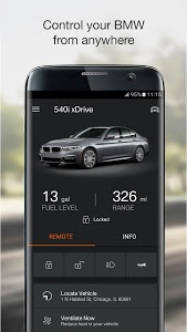 screenshot of BMW Connected version 6.3.1.6157