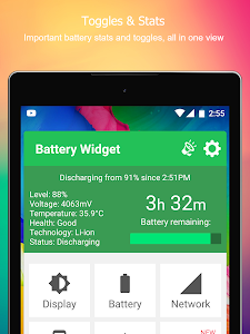 screenshot of Battery Widget Level Indicator version 5.1.4