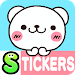 Bear heart Stickers Free