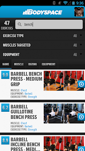 screenshot of BodySpace - Social Fitness App version 1.9.7