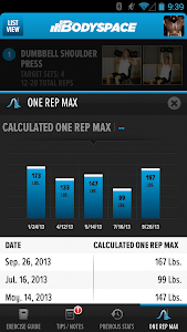 screenshot of BodySpace - Social Fitness App version 1.9.2.1