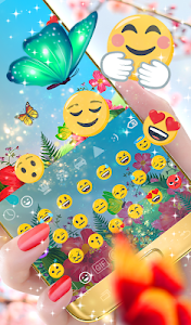 screenshot of Butterflies Animated Keyboard version 2.09