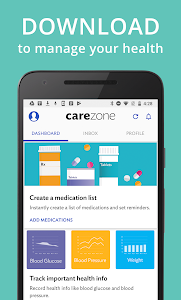 screenshot of CareZone version Varies with device