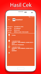 screenshot of Cek Resi dan Ongkir Kiriman version 15.1