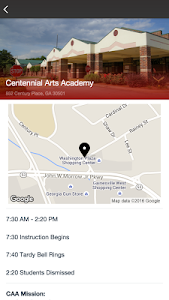 screenshot of Centennial Arts Academy version 7.9.0