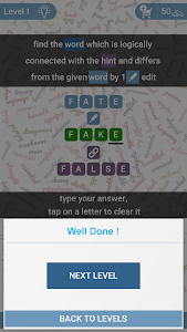 screenshot of Cerebrate: Word Puzzles version 1.37