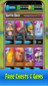 screenshot of Chests and Gems for Clash Royale version Clash-Royale