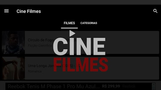 screenshot of Cine Filmes version 1.5.2
