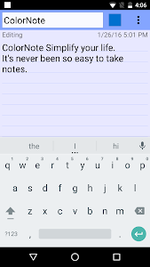 screenshot of ColorNote Notepad Notes version 3.11.9