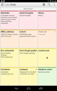 screenshot of ColorNote Notepad Notes version 3.9.82