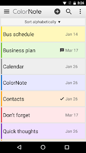 screenshot of ColorNote Notepad Notes version 4.0.7