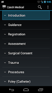 screenshot of Czech Medical Phrases - Works offline version 1.8.5