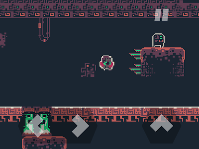 screenshot of DERE EVIL EXE: Meta Horror Pixel Platformer version 1.4