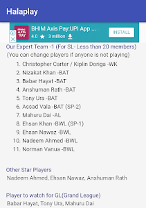 screenshot of Abu Dhabi Dream11 Tips and Prediction Cricket Team version 2.2