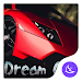 Red Speed car-APUS Launcher theme