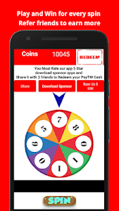 screenshot of Earn free Paytm cash -Spin and Win Money version 2.1