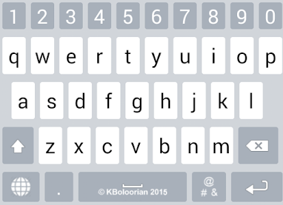 screenshot of Farsi Keyboard version 5.0