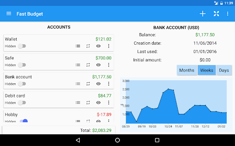 screenshot of Fast Budget - Expense Manager version Varies with device
