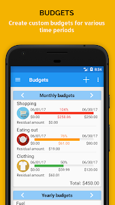 screenshot of Fast Budget - Expense & Money Manager version 4.9.4