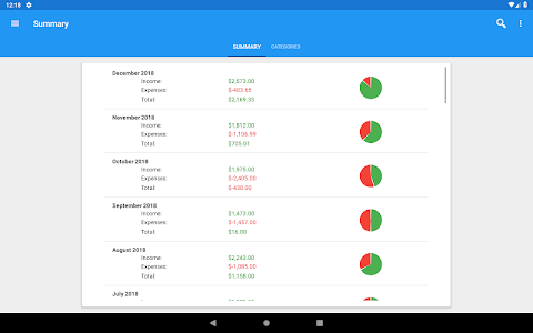 screenshot of Fast Budget - Expense & Money Manager version 5.0.5