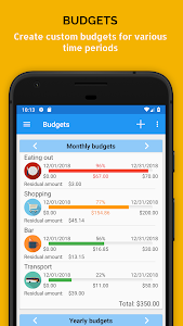 screenshot of Fast Budget - Expense & Money Manager version Varies with device