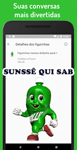 screenshot of Figurinhas Dollynho meme WhatsApp - WAStickerApps version 17.0