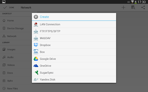 screenshot of File Manager HD(File transfer) version 3.5.0