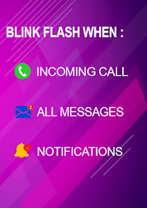 screenshot of Flash blink on Call, all messages & notifications version 8.8