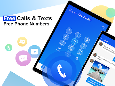 screenshot of Free phone calls, free texting SMS on free number version 4.12.0