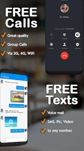 screenshot of Free phone calls, free texting SMS on free number version 4.3.0