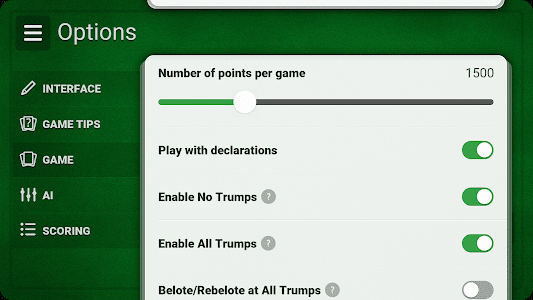 screenshot of French Belote - Free version Varies with device