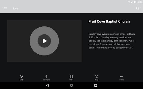 screenshot of Fruit Cove Baptist version 3.12.2