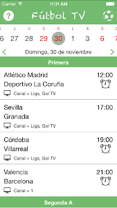 screenshot of Futbol TV version Varies with device