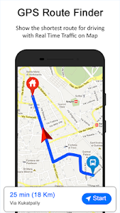 screenshot of GPS Route Finder version 5.10