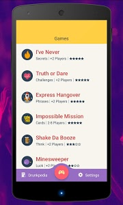 screenshot of Game of Shots (Drinking Games) version 4.6.3