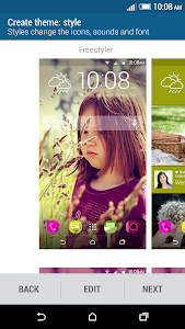 screenshot of HTC Sense Home version Varies with device