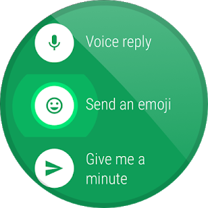 screenshot of Hangouts version Varies with device