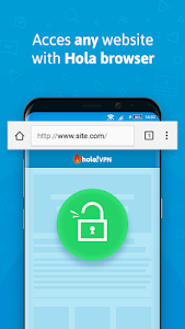 screenshot of Hola Free VPN Proxy Unblocker version Varies with device