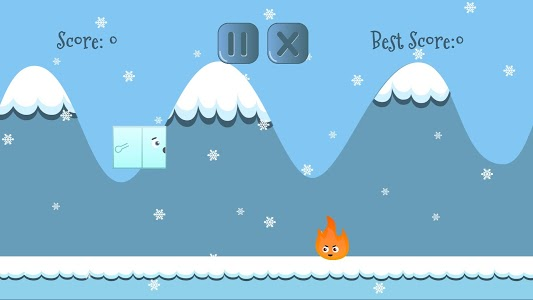 screenshot of Ice cube on fire version 0.4