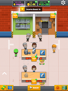 screenshot of Idle Factory Tycoon: Cash Manager Empire Simulator version 2.3.0