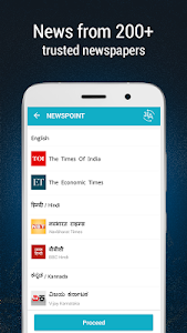 screenshot of NewsPoint - India News by TOI version Varies with device