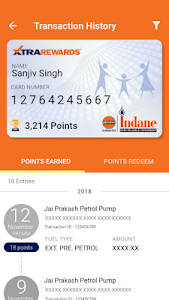screenshot of IndianOil ONE version 1.4.2